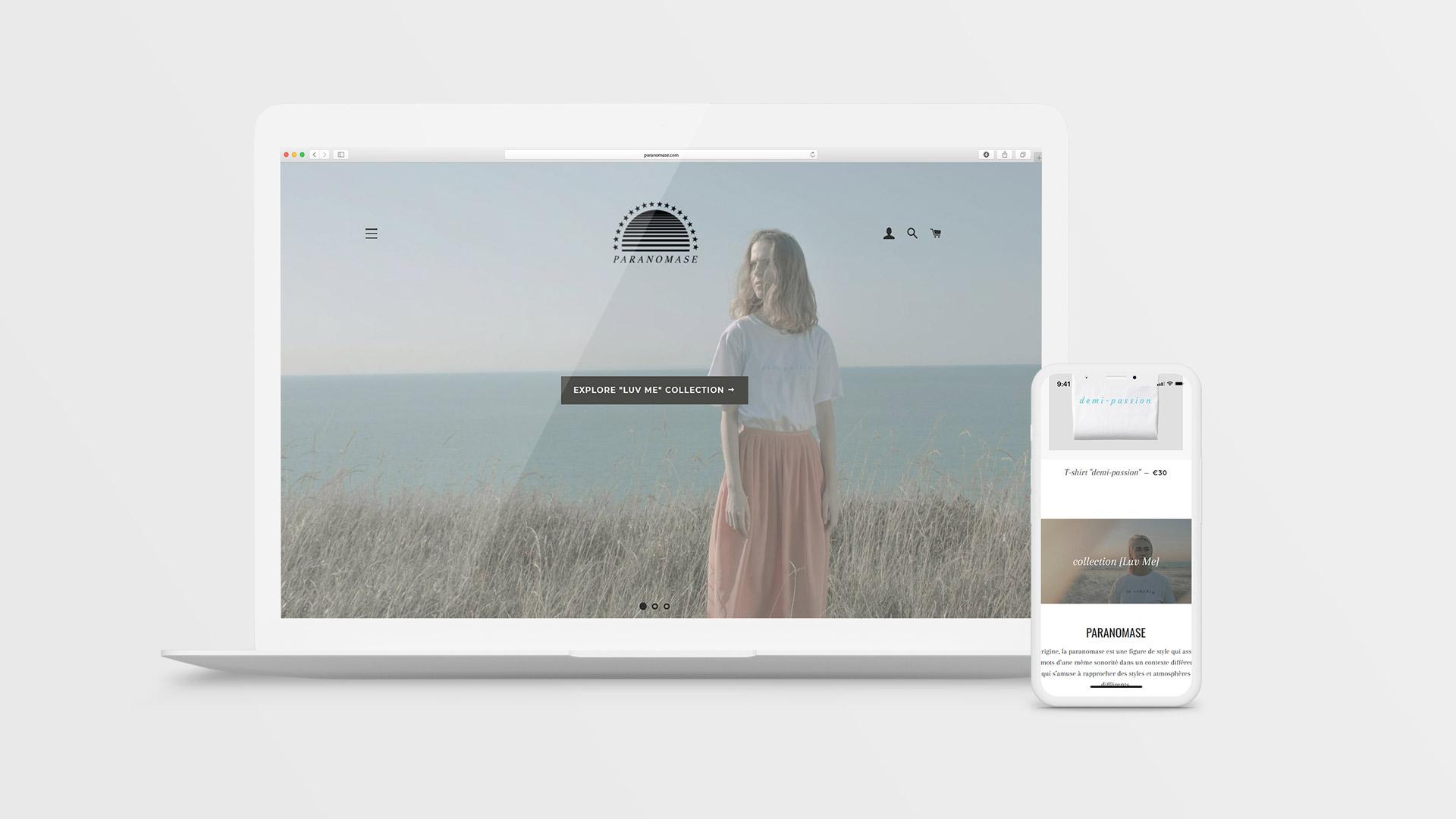 Site e-commerce Paranomase